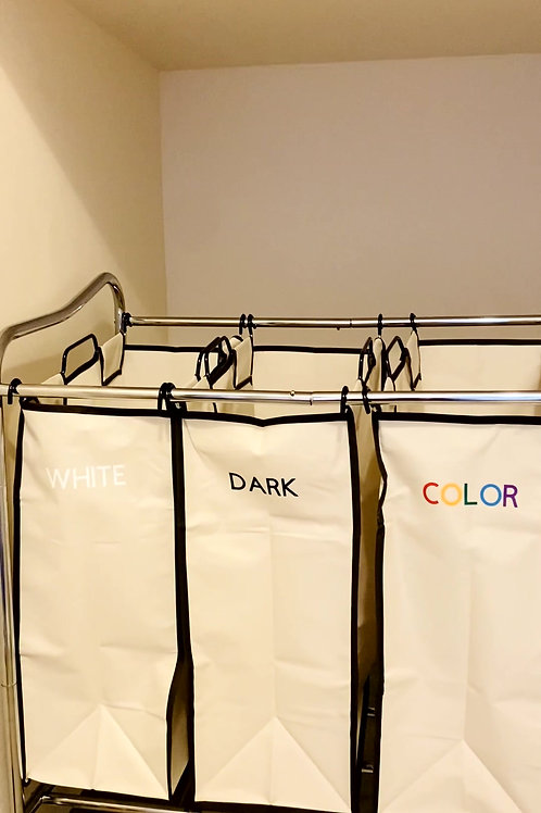 Laundry Decal Organization - WHITE/DARK/COLOR - Customizable too!
