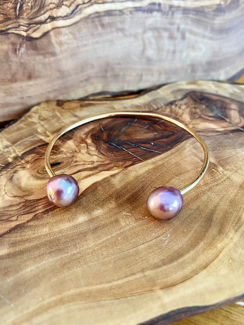 Freshwater Pearls & 14k Goldfilled Cuff Bracelet