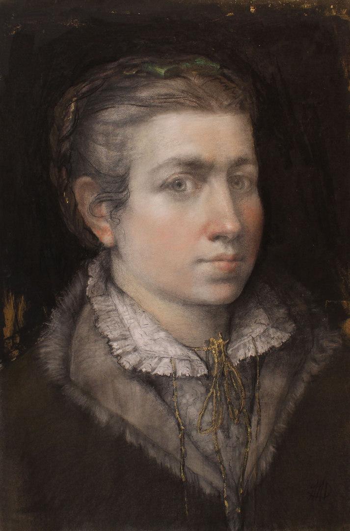 """Sef-Portrait Homage to: Sofonisba Anguissola"""