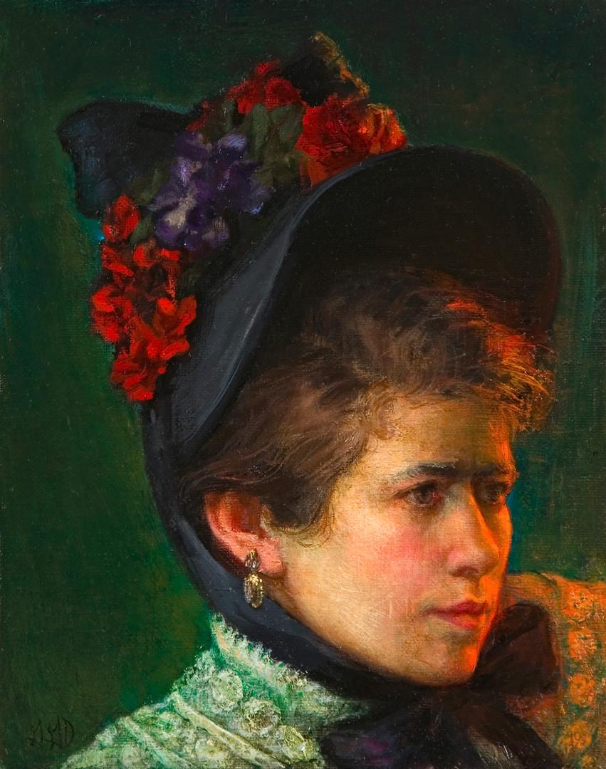 """Homage to Mary Cassatt- Self-Portrait"""