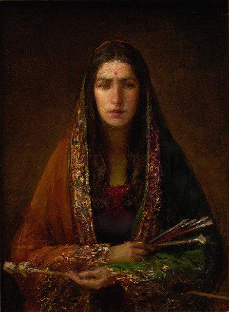 Self Portrait Homage to Amrita Sher-Gil