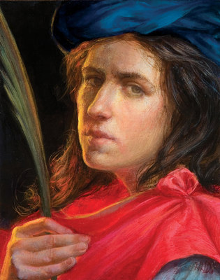 """Self Portrait Homage To Artemisia Gentileschi"""