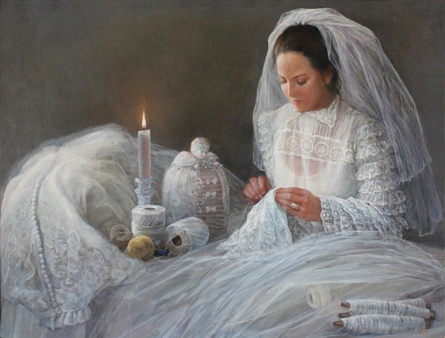 """""""Bride Sewing"""""""