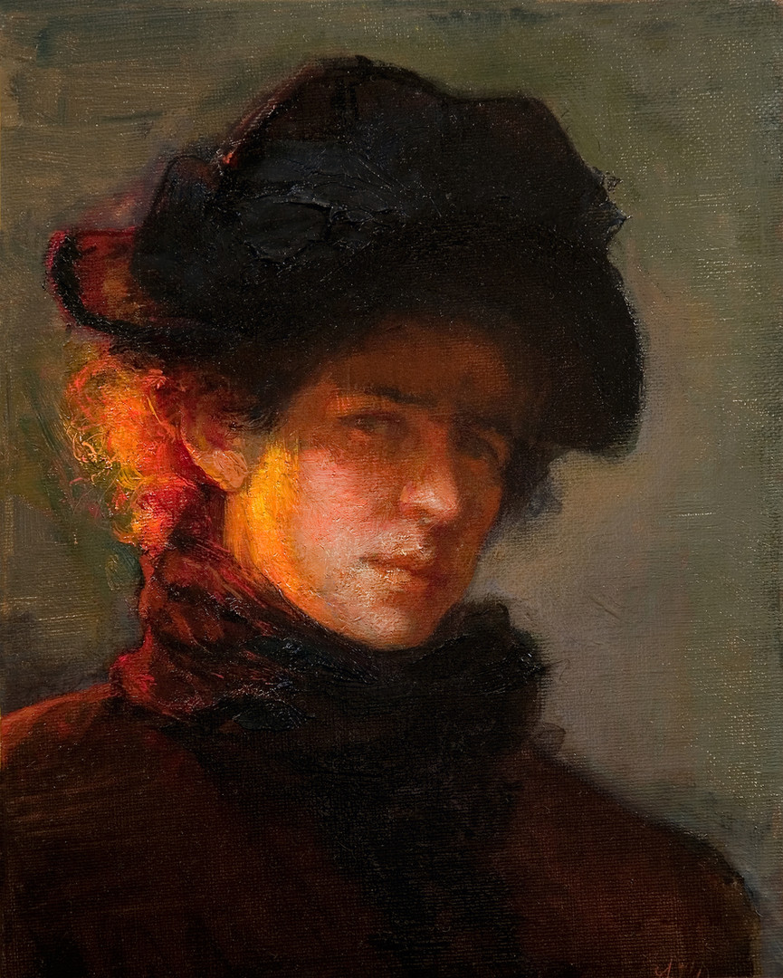 """""""Homage to Lilla Cabot Perry-Self-Portrait"""""""