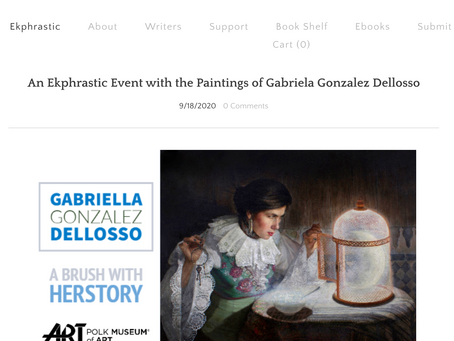 An Ekphrastic Poetry Event with the Paintings of Gabriela Gonzalez Dellosso