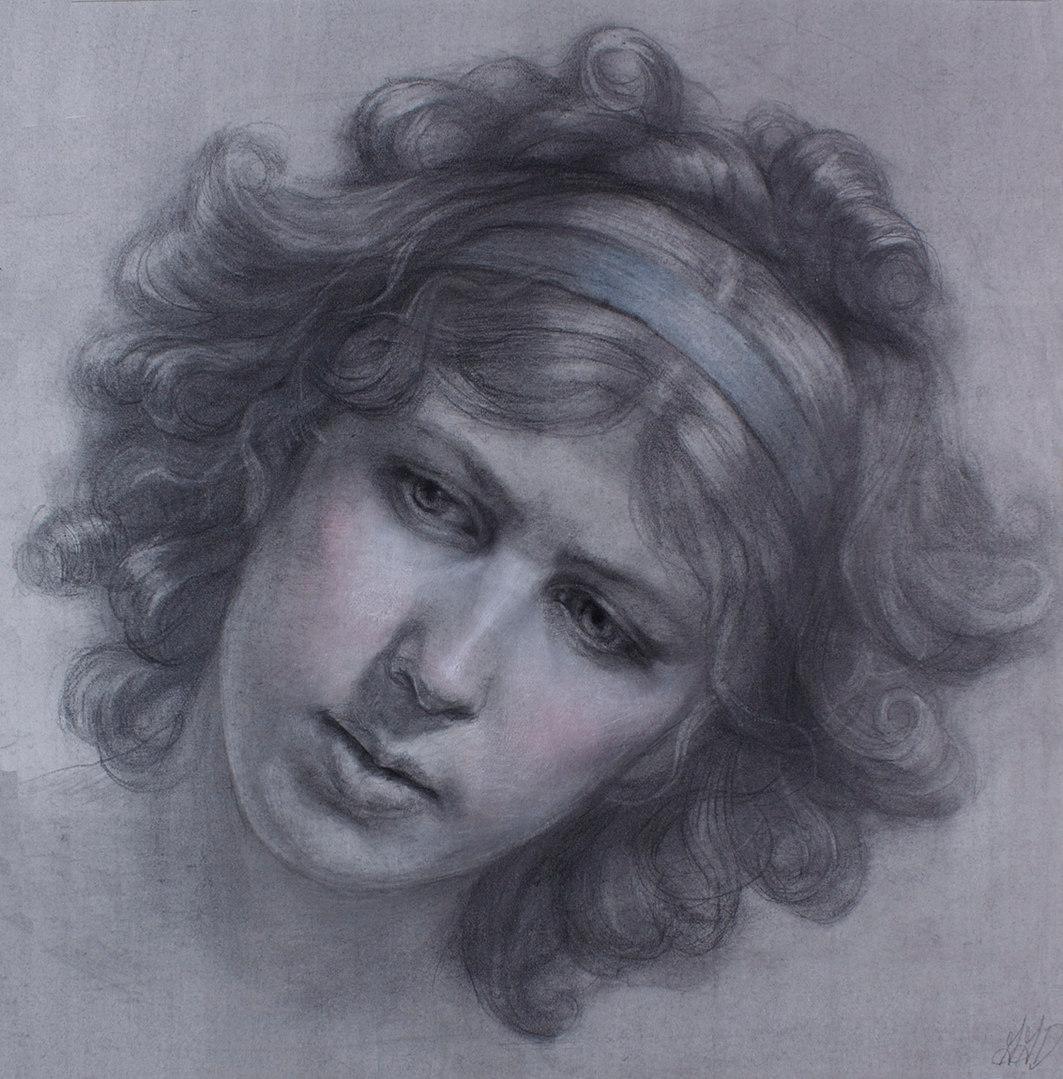 """""""Self-Portrait Homage to : Elisabeth Vigee Le Brun"""