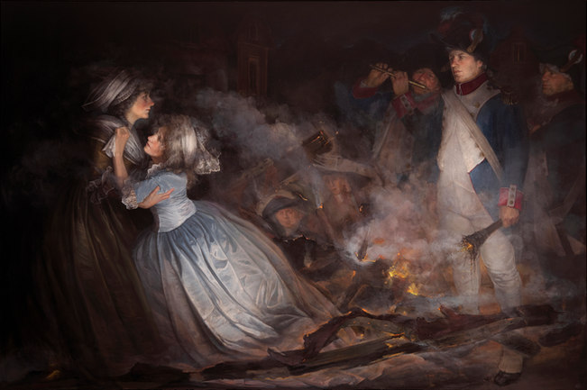 """""""The Burning Of Adelaide Labille-Guiard's Masterpiece"""""""