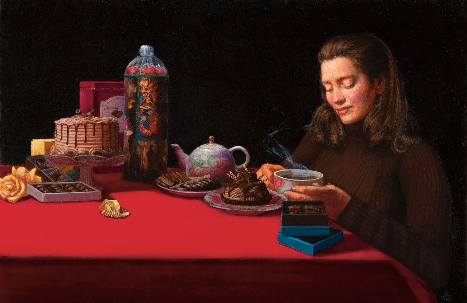 """""""Chocolate And The Garden Of Earthly Delights(Homage To Hieronymous Bosch)"""""""