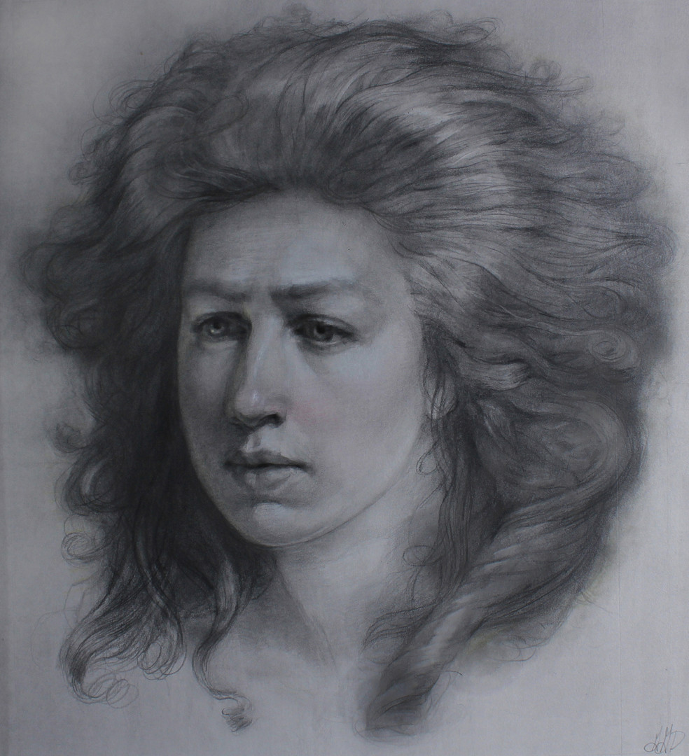 """""""""""Self-Portrait Homage to: Adelaide Labille Guiard"""""""