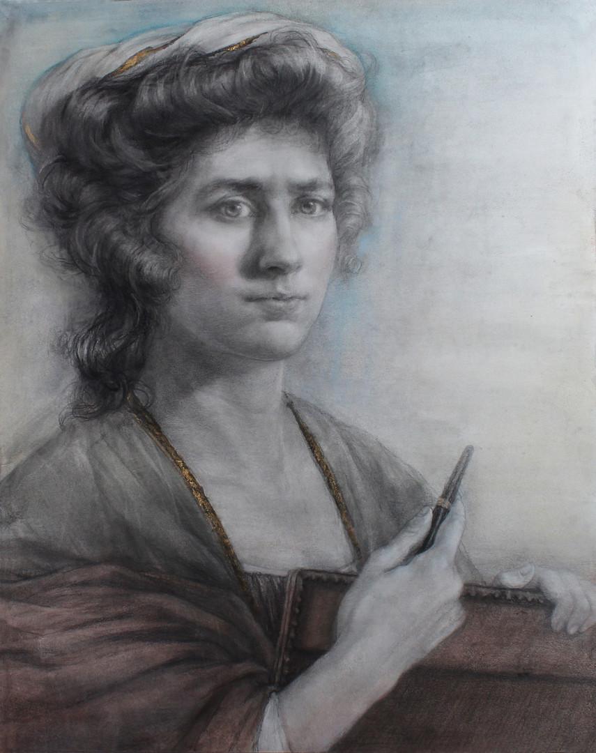 "Self-Portrait Homage To : Angelica Kauffman"""