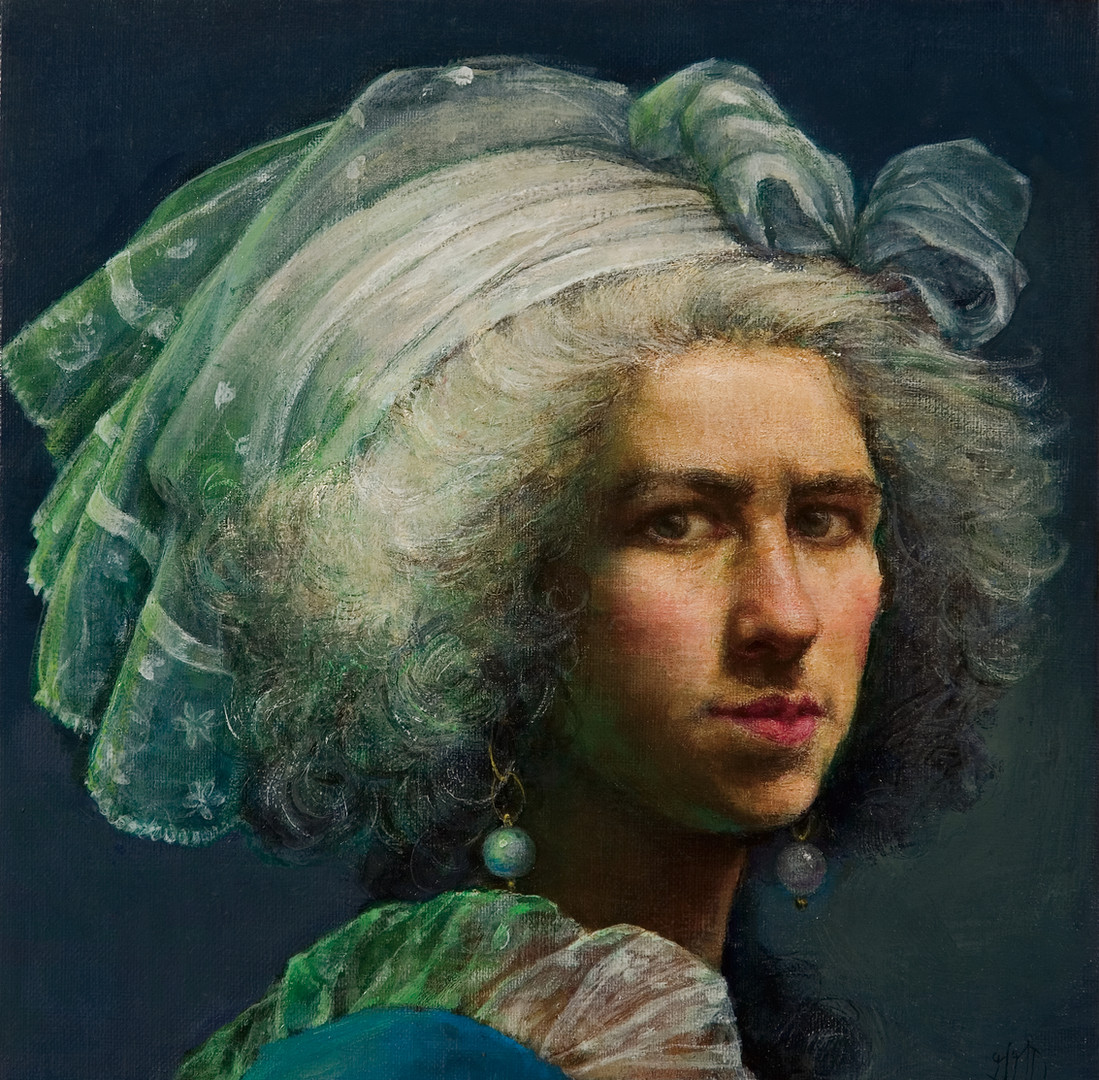 Self-Portrait Homage to Adelaide Labille Guiard