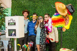 Open Air photo booth set up