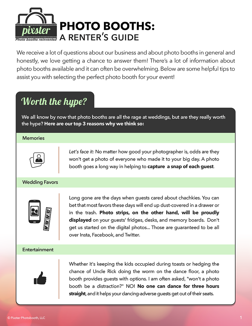 Photo Booth Renter's Guide