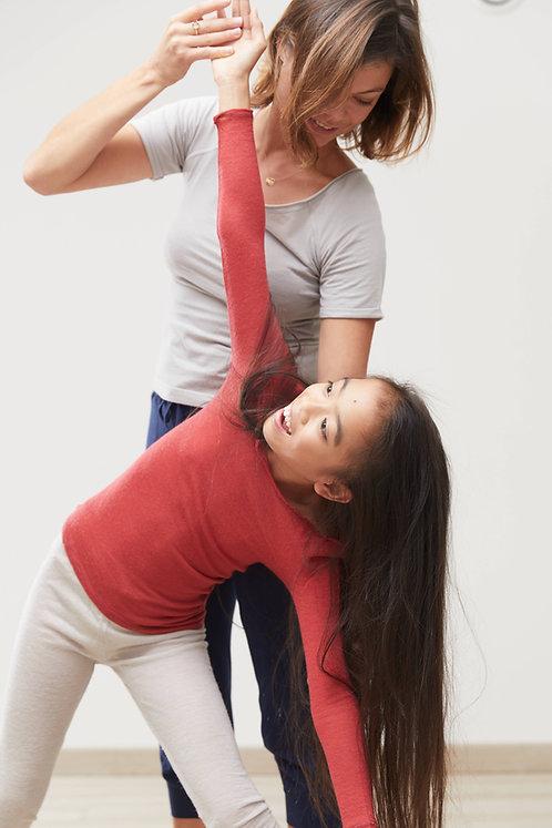 3/4 Sleeve Dancer Neck T-Shirt in Wool