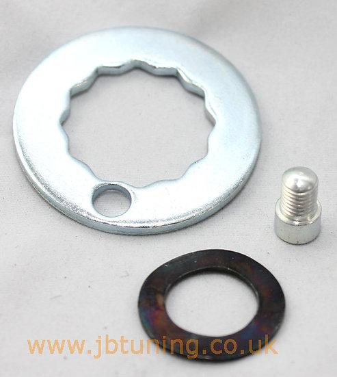 Rear hub nut locking kit