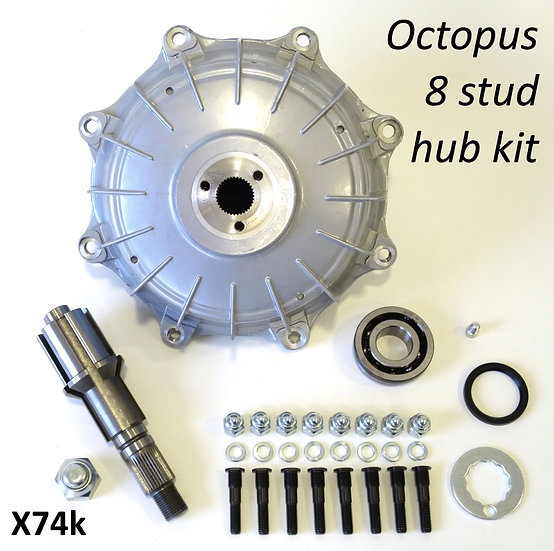 Casa Performance octopus 8 stud hub and new multi spine layshaft. Complete kit