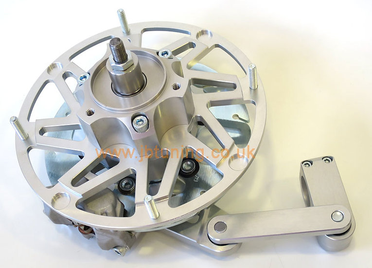 NEW! COMPLETE Casa Performance hydraulic front brake kit (SILVER aluminium)