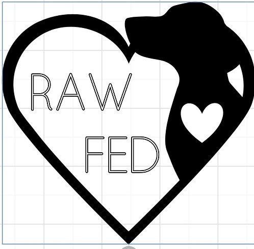 Raw Fed Decal Car/Window
