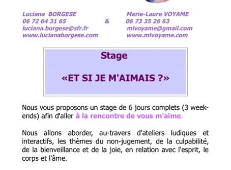 Stage : Et si je m'aimais ?