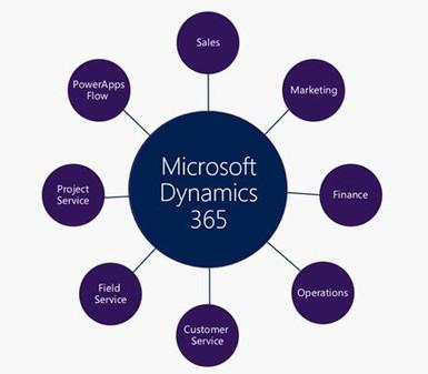 micrsoft dynamics 365 cloud erp crm