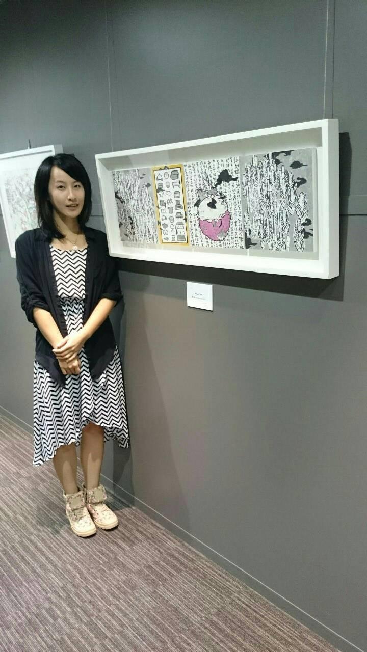 藝術家黃千倫於Art Olympia會場