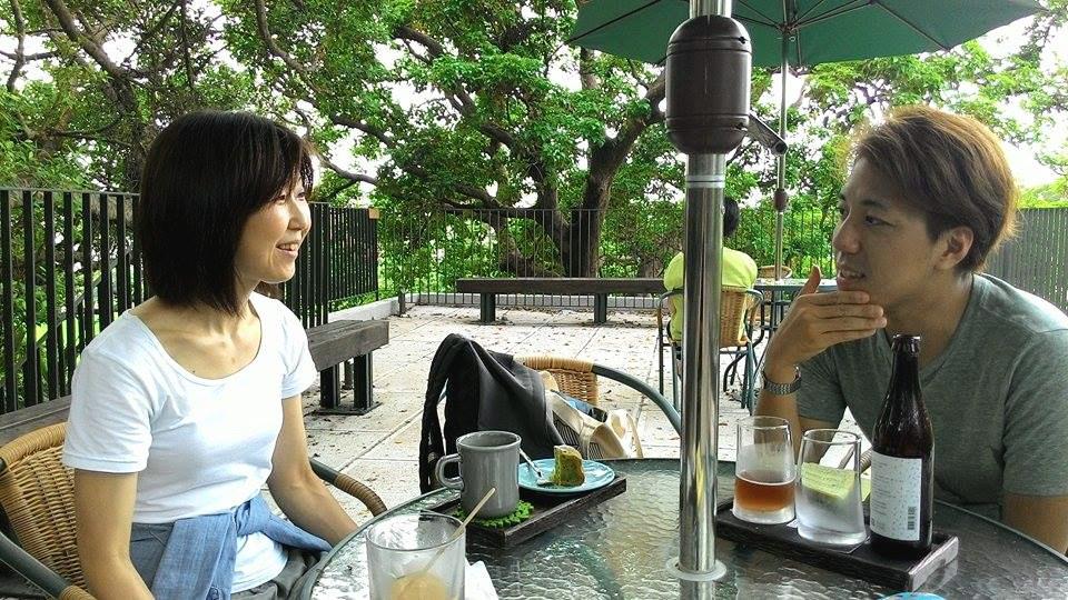 Minako與藝廊團隊夥伴在淡水雲門