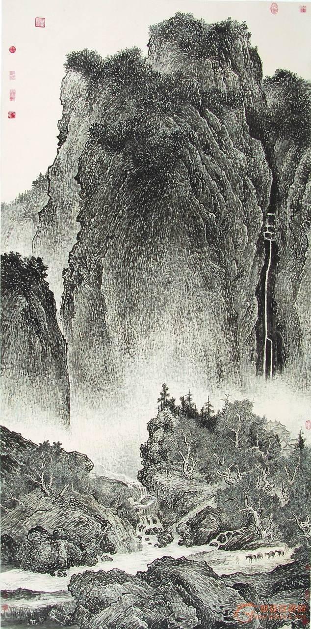 范寬 | 溪山行旅圖