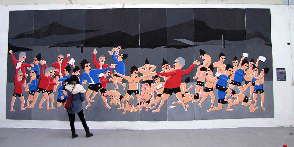 鄭崇孝 | 2013 | 文青之死 | 油彩、畫布 | 162 x 130 cm