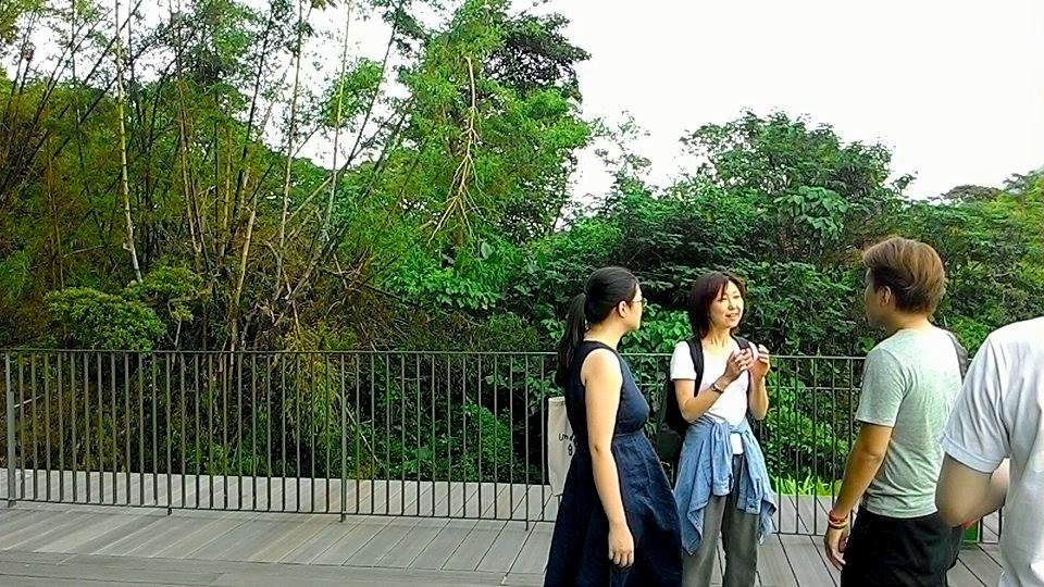 喜歡親近大自然的Minako在淡水雲門渡過美好的下午時光