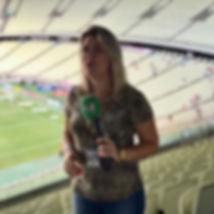 Germana Pinheiro trabalha com futebol de