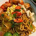 Seafood Mee Goreng (Ocean Prawns, Sotong, Eggs, Potato, Sambal Chilli)