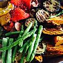 Roasted Vegetables w Mediterranean Herbs, Roasted Sesame Dip(Pumpkins, Baby Aparagus, Eggplants, Zucchini, Mix Sweet Pepper, Portabello)