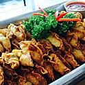 Fresh Prawns & Chives Wanton Dumpling, Garlic Chilli Dip (40 pcs)