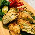 Fresh Prawns & Waterchestnut Roll, Garlic Chilli Dip (40pcs)