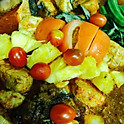 Curry of Fish Snapper Fillet w Condiments (Eggplant, Orka, Tomatoes)