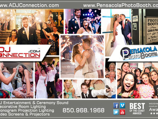 A DJ Connection / Pensacola Photobooth featured 2017 ad in Coastal Weddings Magazine