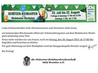 Schützen-Biergarten am Freitag, 20.08.2021