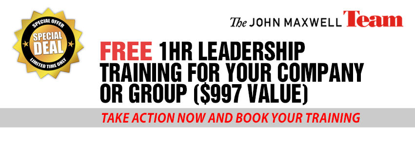 Free Leadership Training for Managers Advertisement. Book your training now.