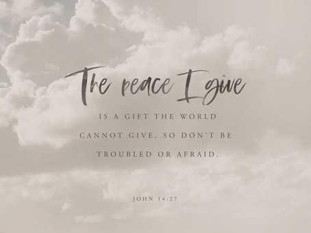 A Prayer for Peace - John 14:27