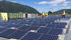solcelle flatt tak næringsbygg
