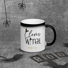 Clever Witch Matte Black Magic Mug