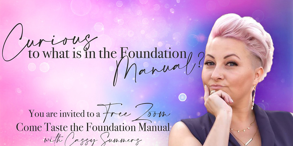 Curious to what is in the Foundation Manual?