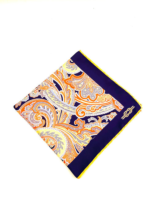 Sloane Silk Pocket Square -Marine - PS 8924 A