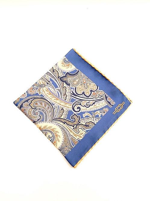 Sloane Silk Pocket Square - Delft Blue - PS 8924 B