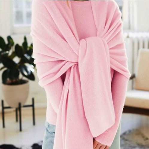 Womens Cashmere Travel Wrap 2 Ply - 9 Guage