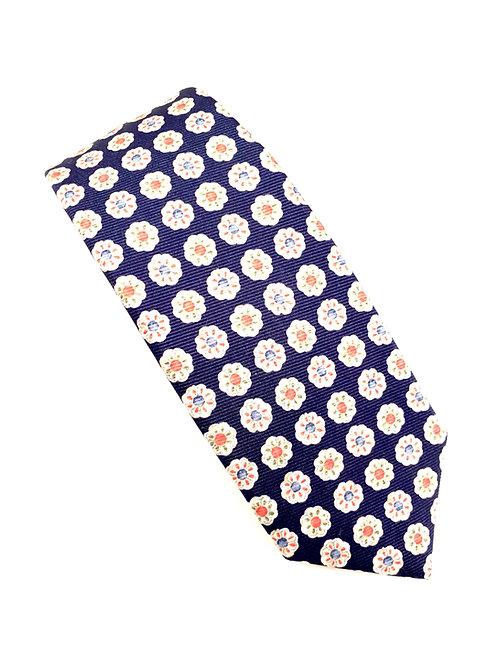 Tremezzo Saglione Silk Twill  Neck Tie -  Marine TR 0768 A