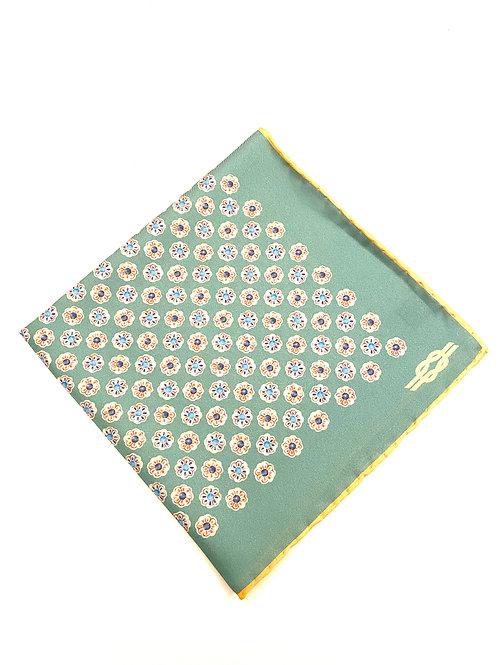 Cavendish Silk Pocket Square - Aqua - PS 9537 G