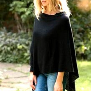 Womens's Cashmere Poncho  2 Ply - 7 Guage
