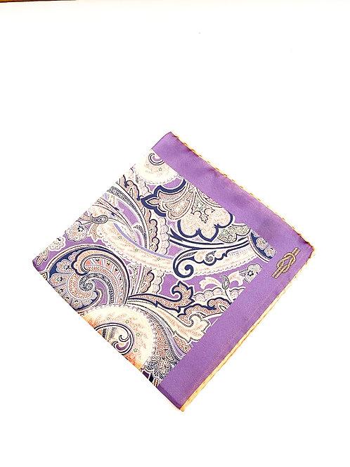 Sloane Silk Pocket Square - Iris - PS 8924 F