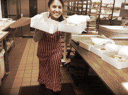 Ana at the kitchen